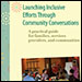 """Launching Inclusion Efforts Through Community Conversation"" cover with text."