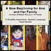 "Cover of ""A New Beginning for Ana and Her Family."" Close-up of infant and adults."