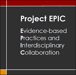 Project EPIC (Evidence-based Practices and Interdisciplinary Collaboration) Logo
