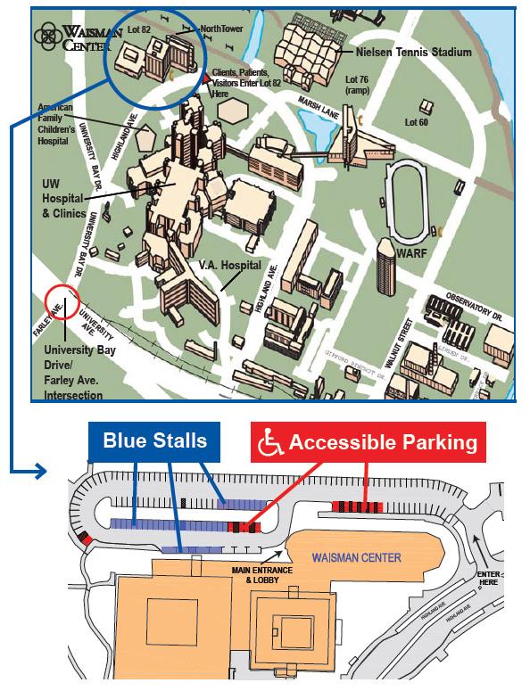Parking Map for Waisman