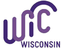 """WIC logo: letters in purple with a half-circle above the """"i"""" and """"c"""""""