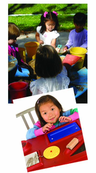 2 photos two little girls playing seond photo girl playing with toys page 30