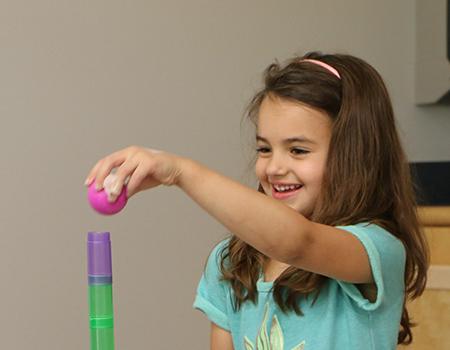 Young Girl Autism Treatment Program
